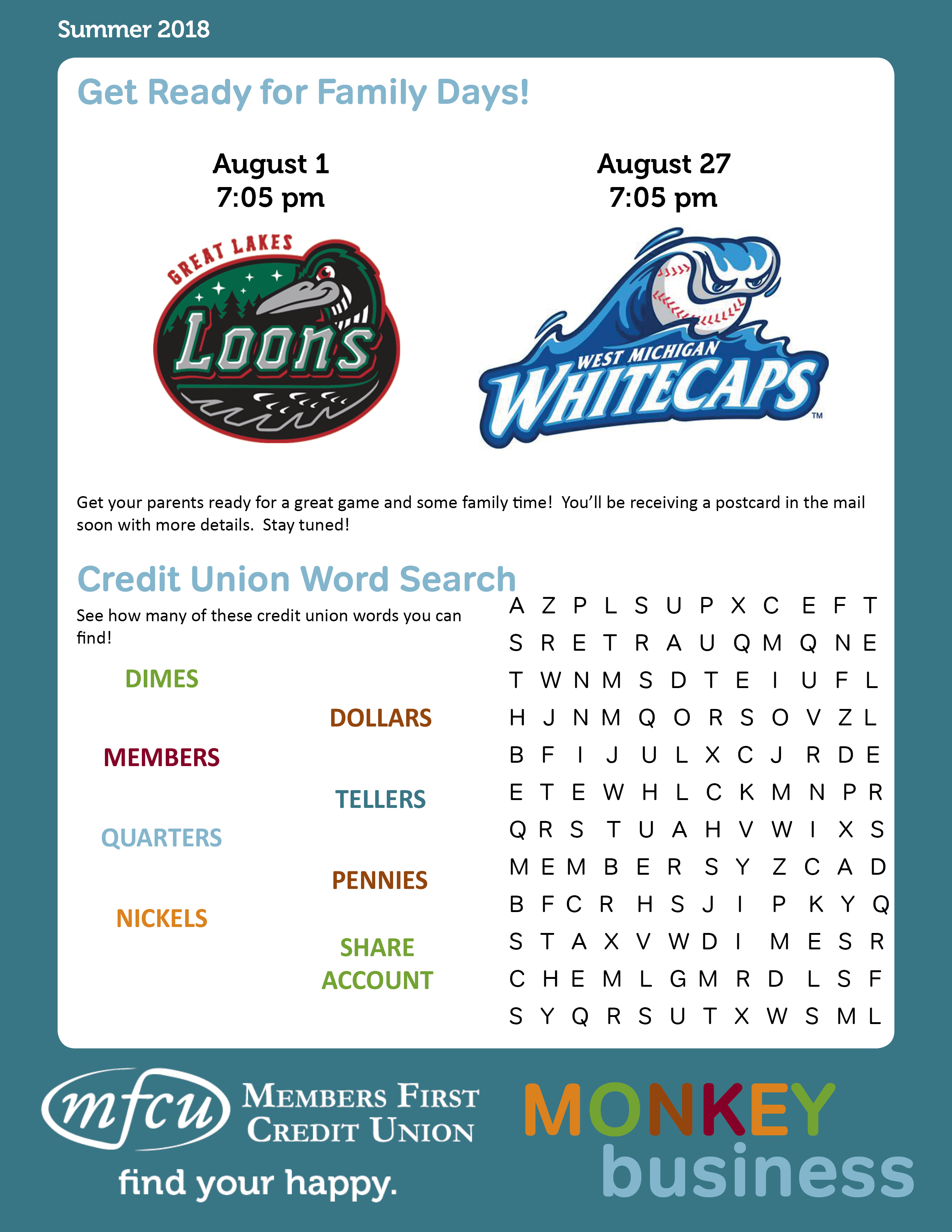 newsletter members first credit union