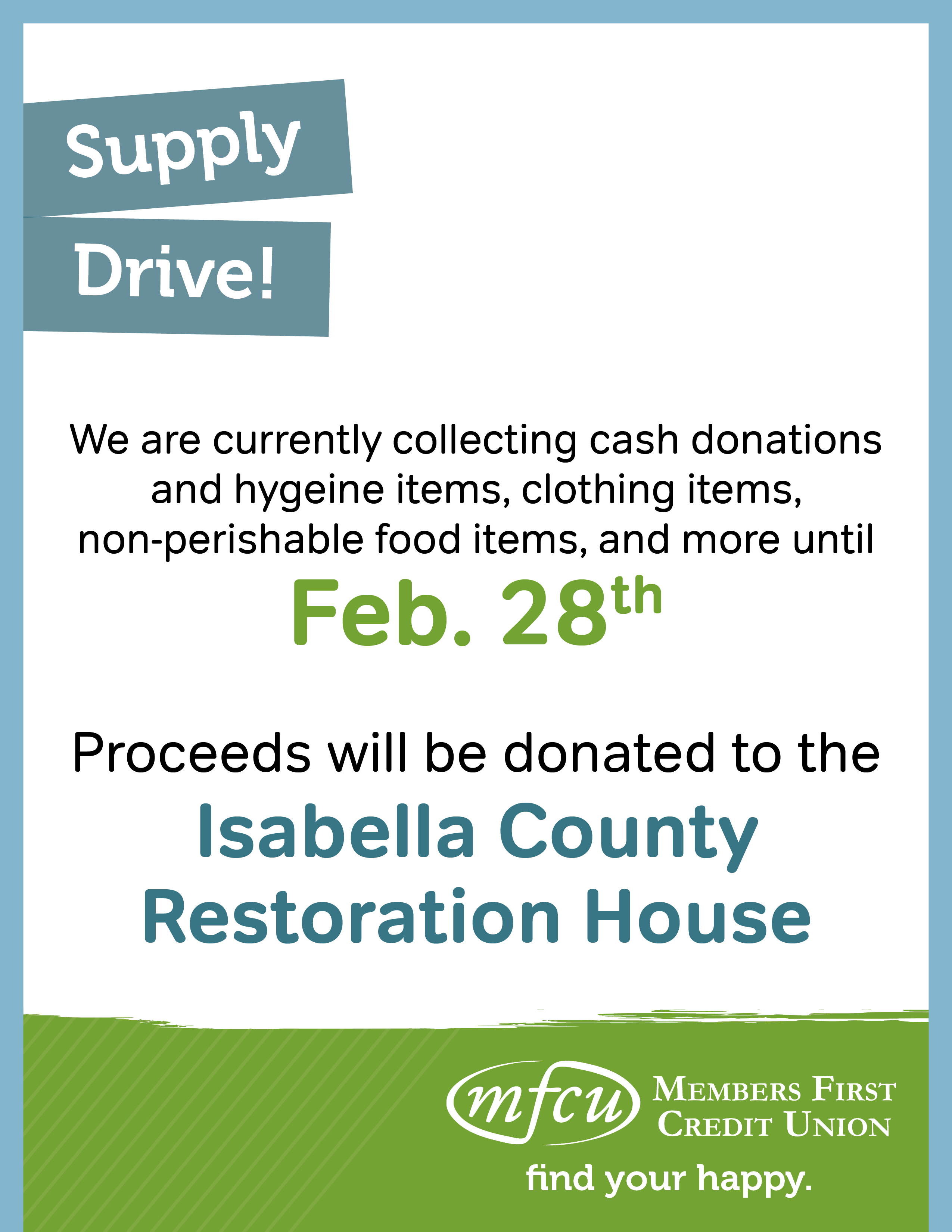 Supply Drive!