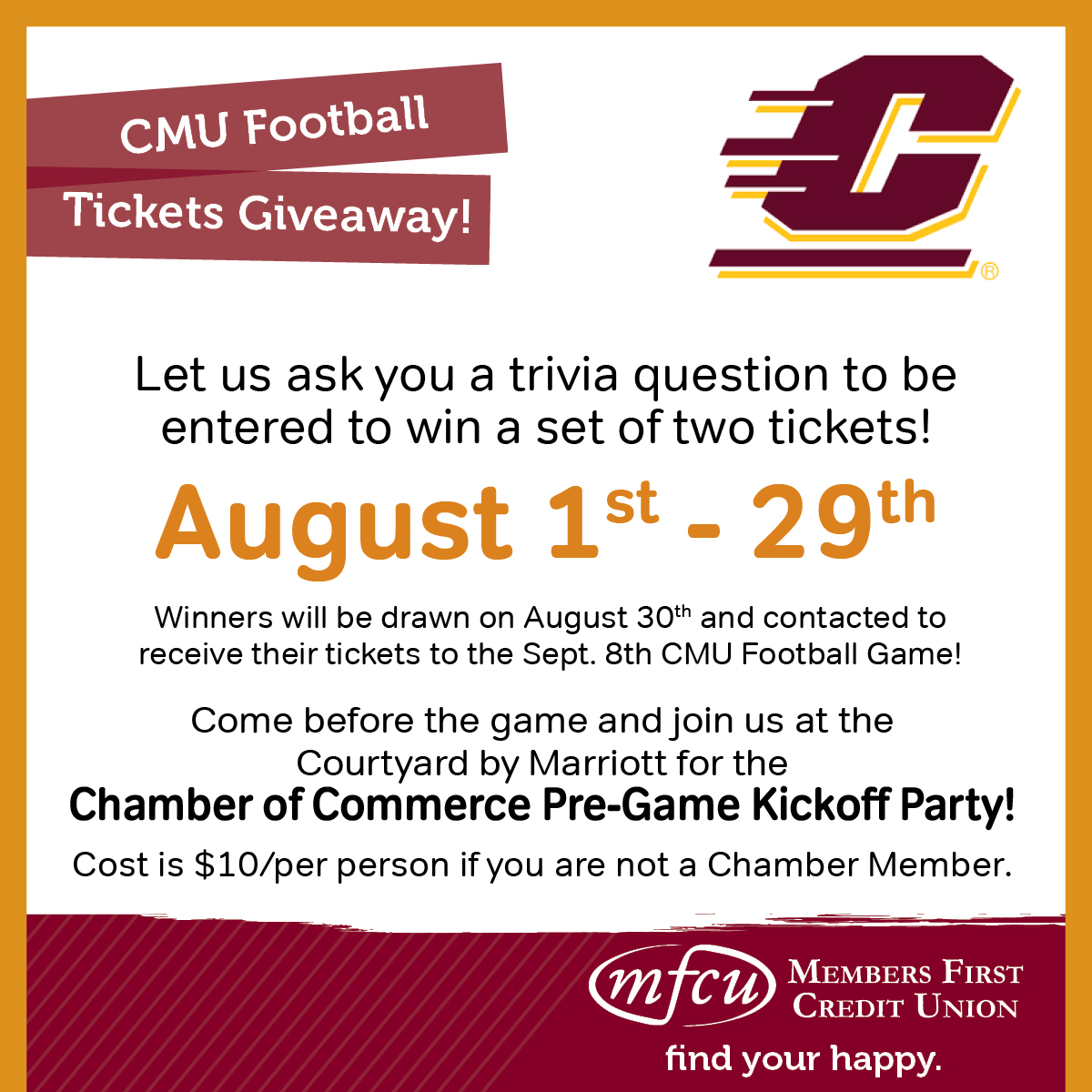 CMU Ticket Giveaway!